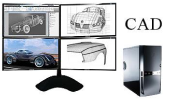 CAD Workstations Multi Screen