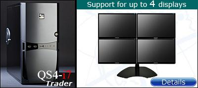 4 Display Trading Computer