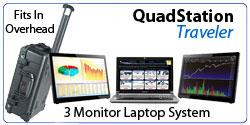 QuadStation Traveler Multi Display Laptop with 3 screens by NTI.