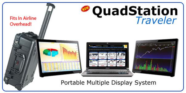 QuadStation Traveler Laptop with 3 Screens