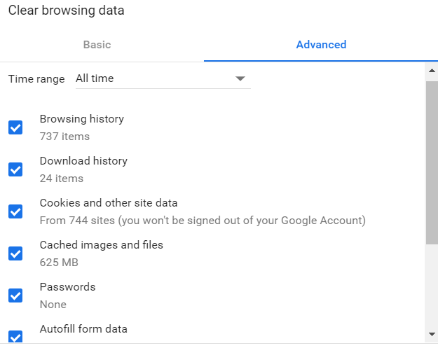 Chrome How to Clear Browser Data