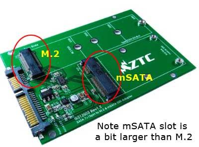 M.2 Adapter for PCIe or mSATA