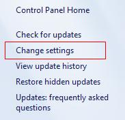 How to change Windows Update settings