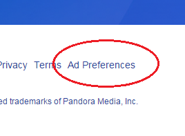 How to opt out of pandora ads
