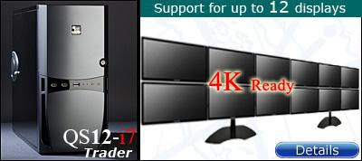 12 Display Trading Computer with 4k