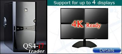 QuadStation 4 display trading computer with 4k / 5k