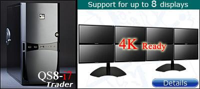QuadStation 8 display trading computer with 4k / 5k