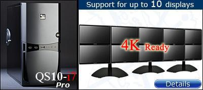 QuadStation 10 Screen System with 4k