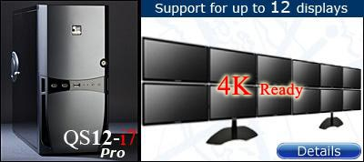 QuadStation 12 Screen System with 4k