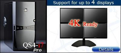 QuadStation 3 Screen System with 4k