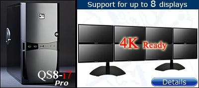 QuadStation 8 Screen System with 4k