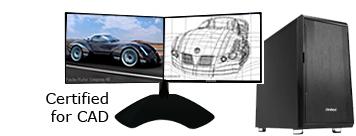 Dual Monitor CAD Computer