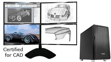 CAD Computer with 4 screens